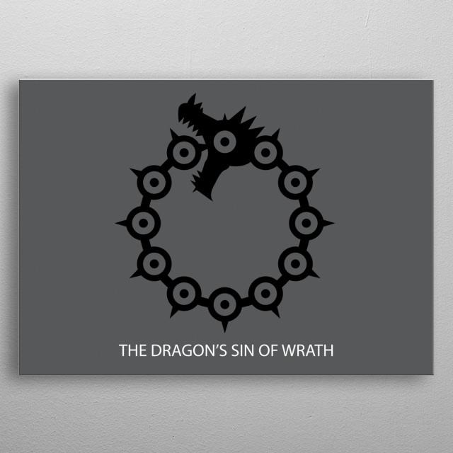 This is Icon for Meliodas, The Dragon's Sin of Wrath in Nanatsu No Taizai  metal poster