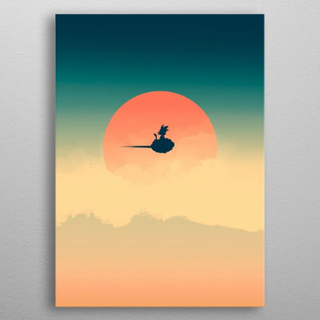 Flying Goku :) metal poster