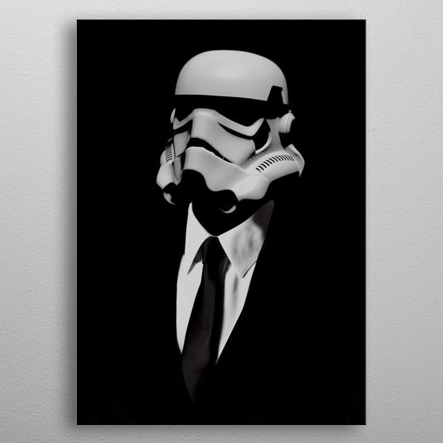 Stormtrooper elegant metal poster