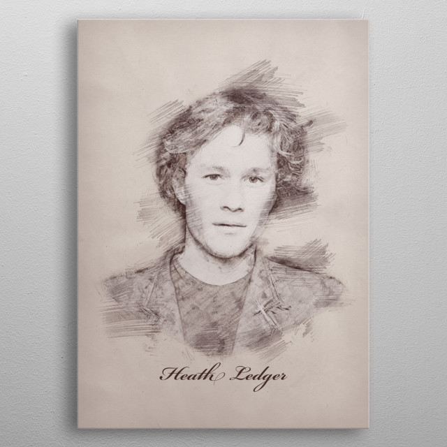 Beloved Perth-born actor and director Heath Ledger was highly recognised for his realistic  approach to the Joker in The Dark Knight (2008) metal poster