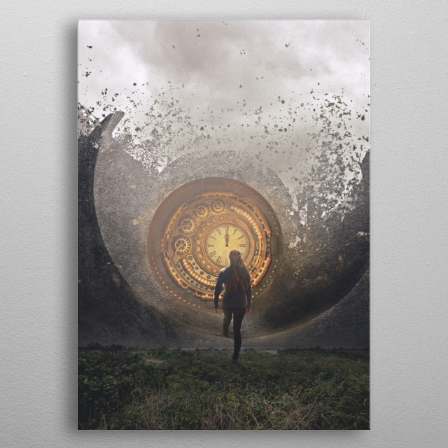 In search of an exit, we search for portals, or other ways to get us out of a situation that we know would harm us. metal poster
