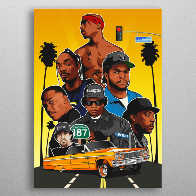 Tupac Snoop dre ice cube and more metal poster