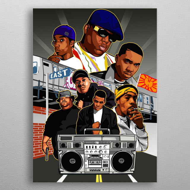 B.I.G Tupac Jay-Z  and more metal poster