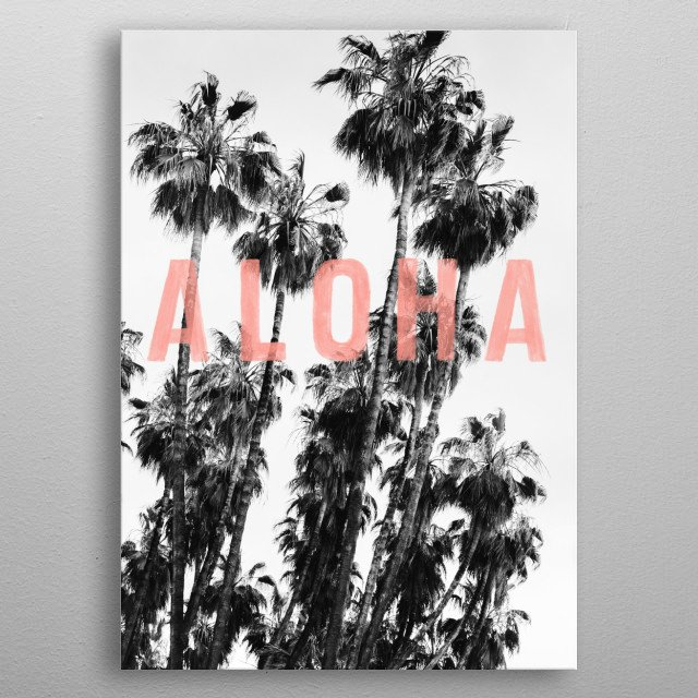 Vintage inspired photography partnered with modern typography by Frances & Antoinette.  metal poster
