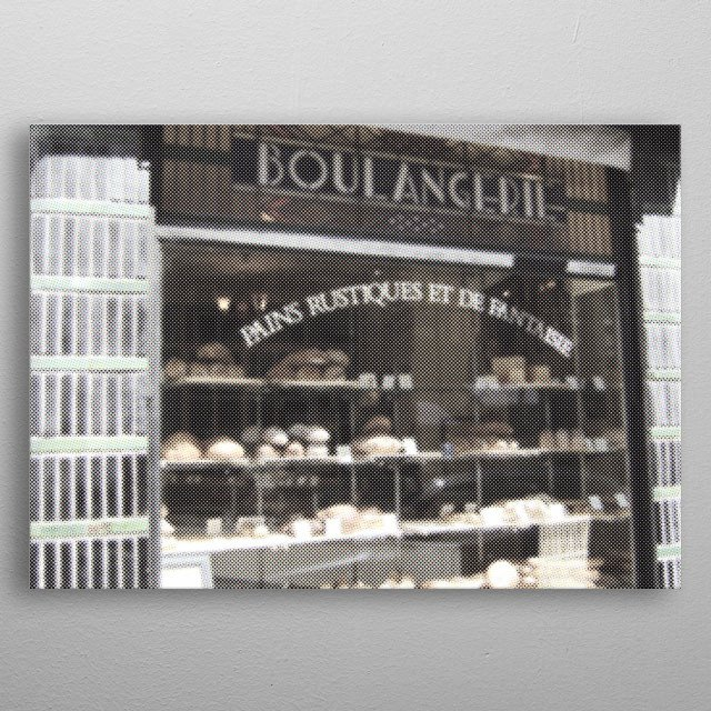 French Boulangerie in Lille, Northern France. metal poster