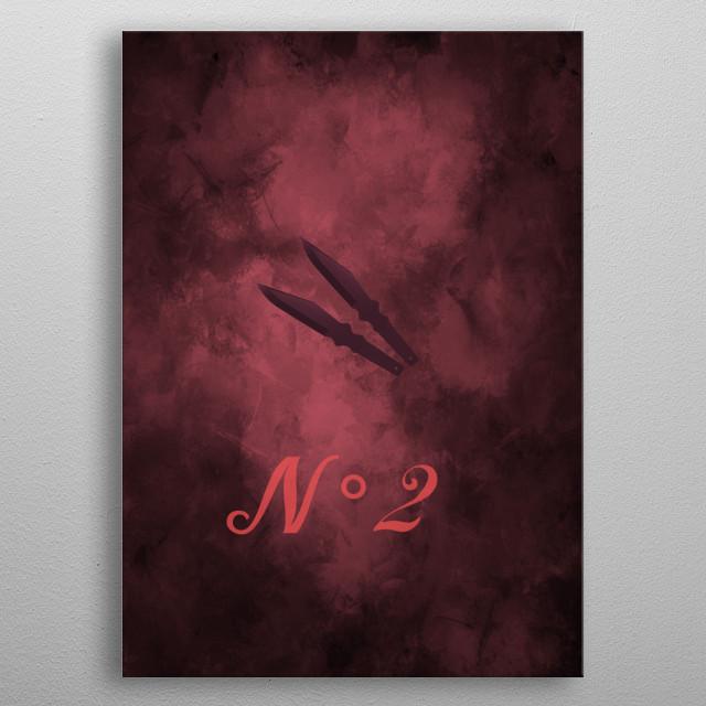 Design pop culture Série umbrella académie N 2 Diego hargreeves metal poster