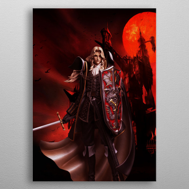 Alucard from Castlevania series metal poster