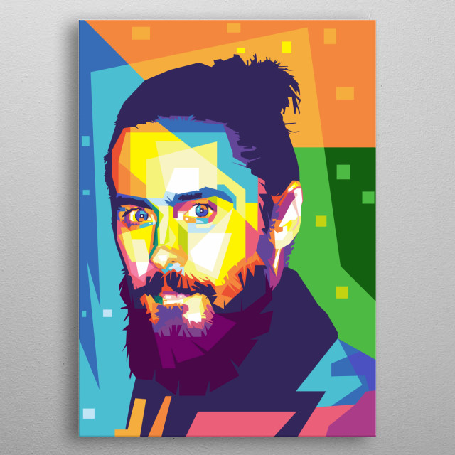 Jared Leto in wpap metal poster