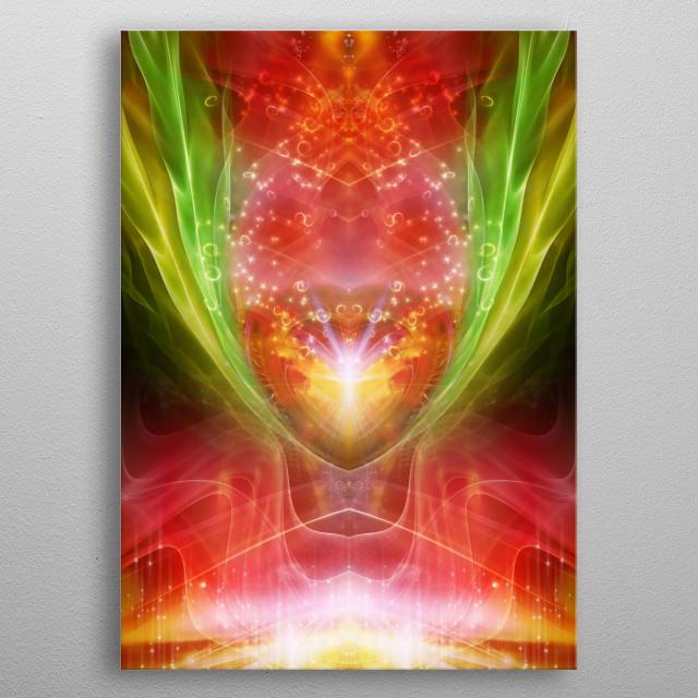 Spiritual Energy Artwork with Dragonpower! metal poster