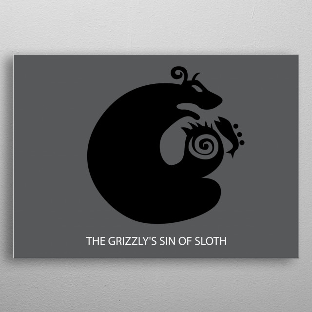 This is Icon for King, The Grizzly's Sin of Sloth in Nanatsu No Taizai metal poster