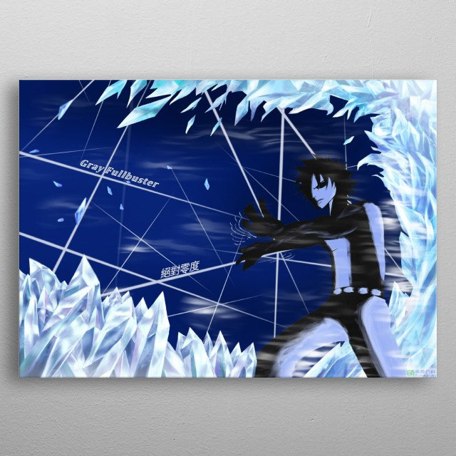 Fairytail - Gray Fullbuster Absolute Zero metal poster