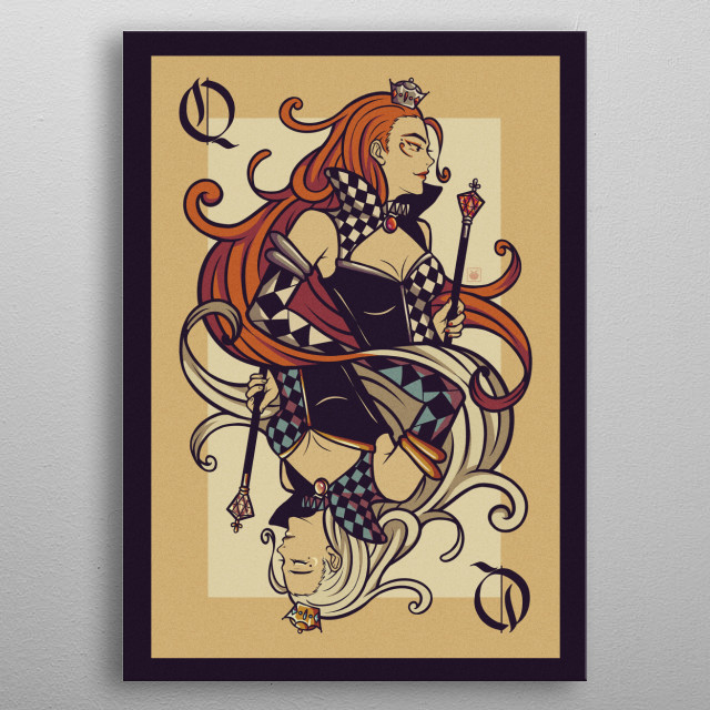 inspirated from Alice in Wonderland metal poster