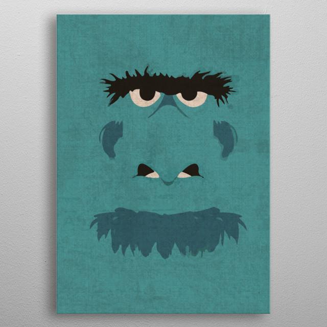 Sam the Eagle Portrait Muppet metal poster