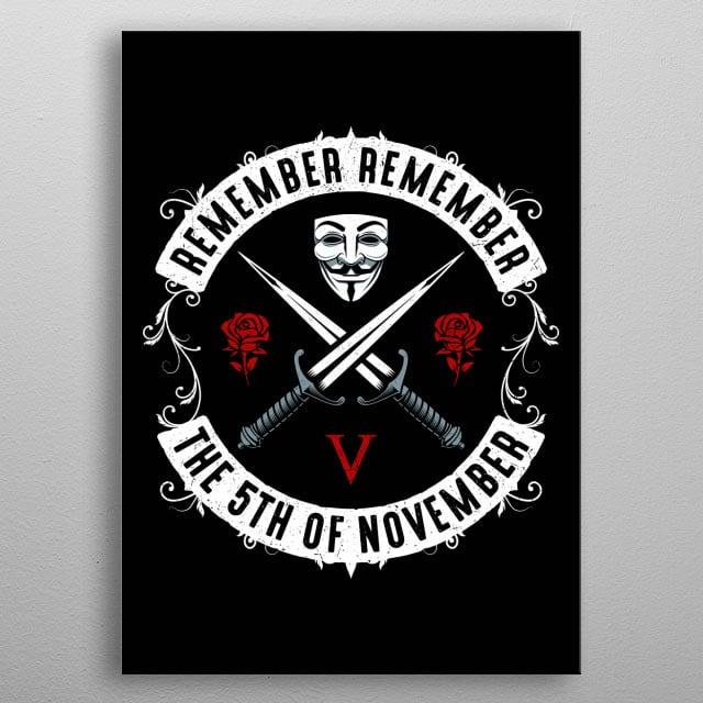 Remember remember... metal poster