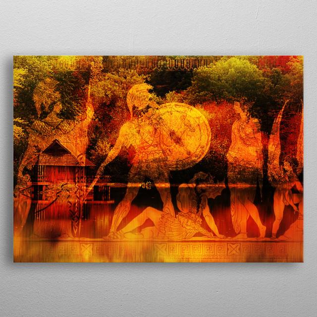 Ancient Greek Epic Contemporary Art Poster Print Metal