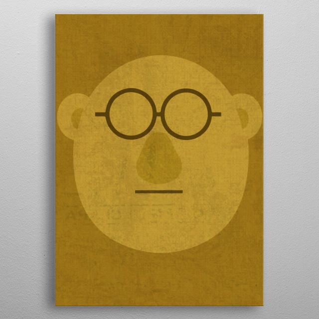 Dr. Bunson Honeydew Muppet Portrait metal poster