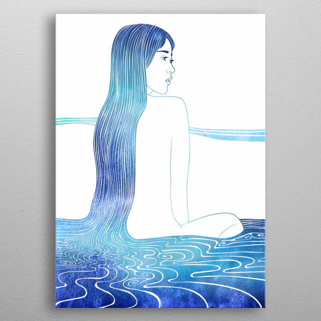 Ione —  A mythological nereid. One of the daughters of the Nereus, the Old Man of the Sea. metal poster