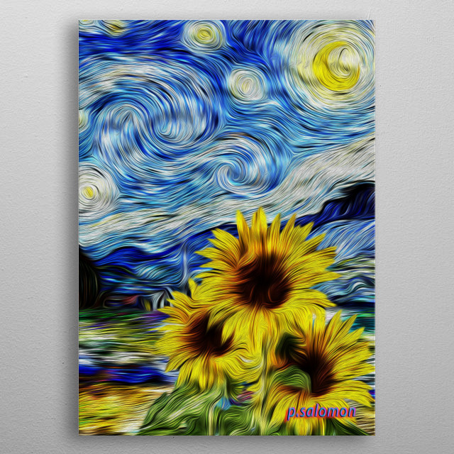 Sun flowers sitilic Van Goth from Holand.  metal poster