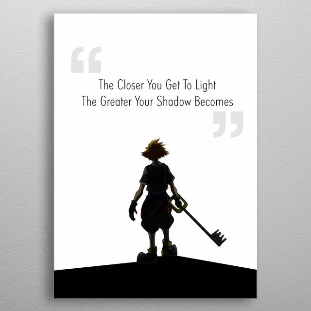 Game Kingdom Hearts metal poster