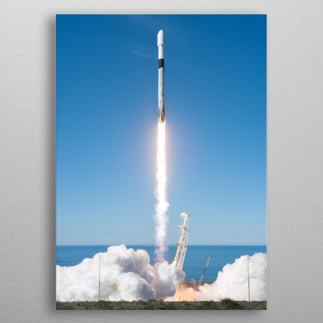 SpaceX Falcon 9 Launch metal poster