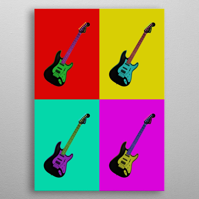 Bring back the 70's and the 80's rock n' roll with this awesome guitar art. metal poster