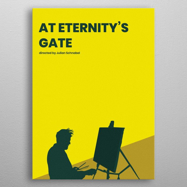 At Eternity's Gate Minimalistic Poster metal poster