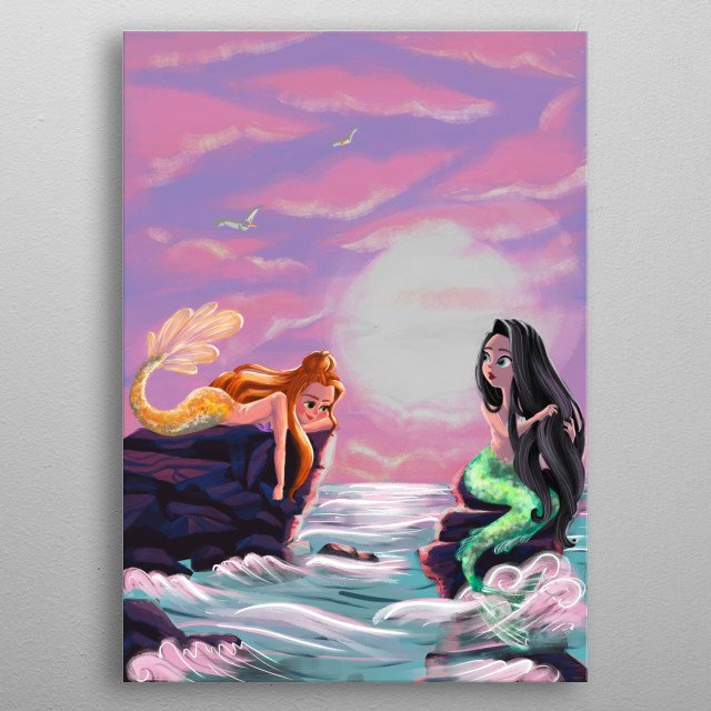 I am so much into Mermaids, they are mysterious and beautiful who have personalities. I am a mermaid believer! are you too?   metal poster