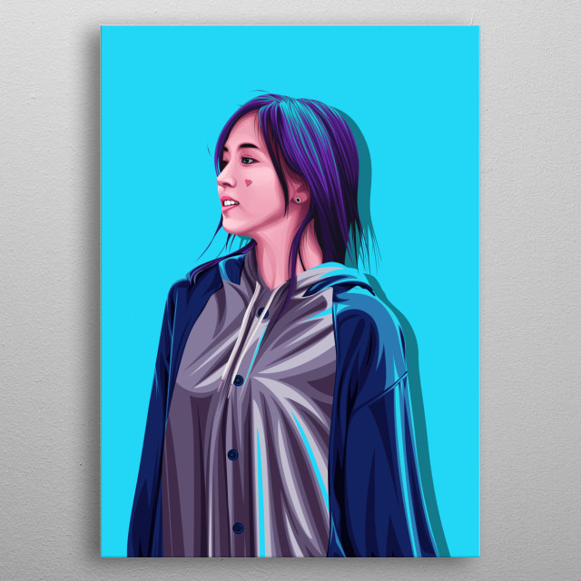 """inspired by the member of best kpop girlgroup """"TWICE"""". if you ONCE(the name fans of TWICE) you must buy this art metal poster"""