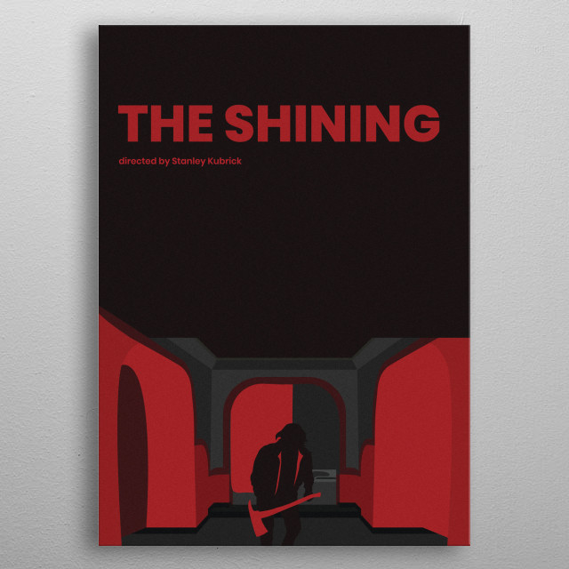 The Shining Minimalistic Poster metal poster