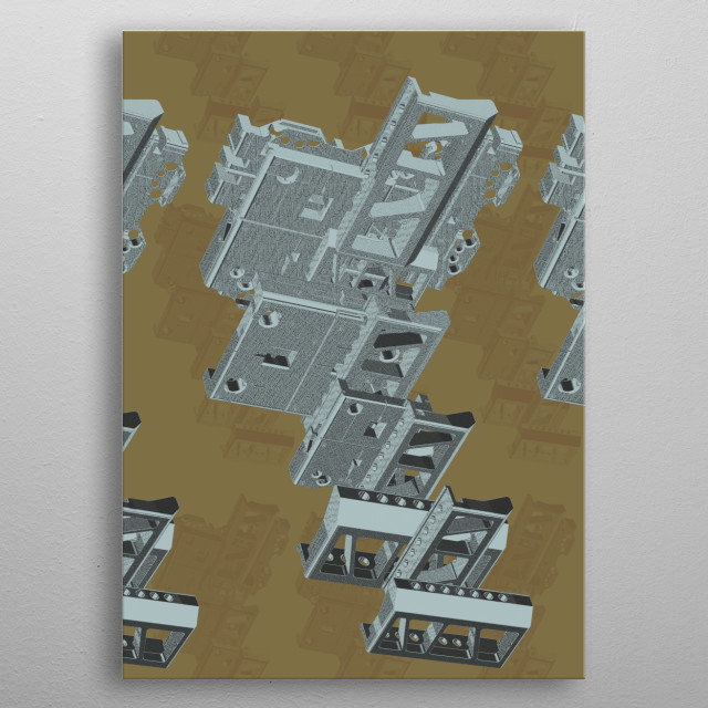 Mechanical Abstract 3 metal poster