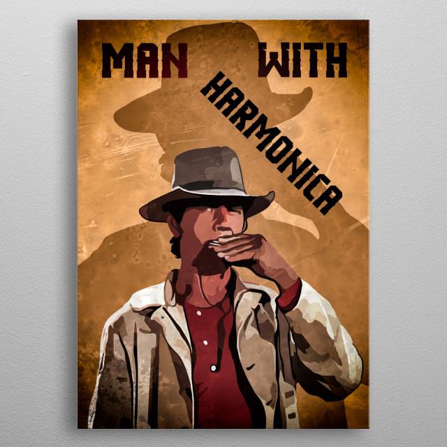 "Illustration of the legendary western star ""Charles Bronson""... metal poster"