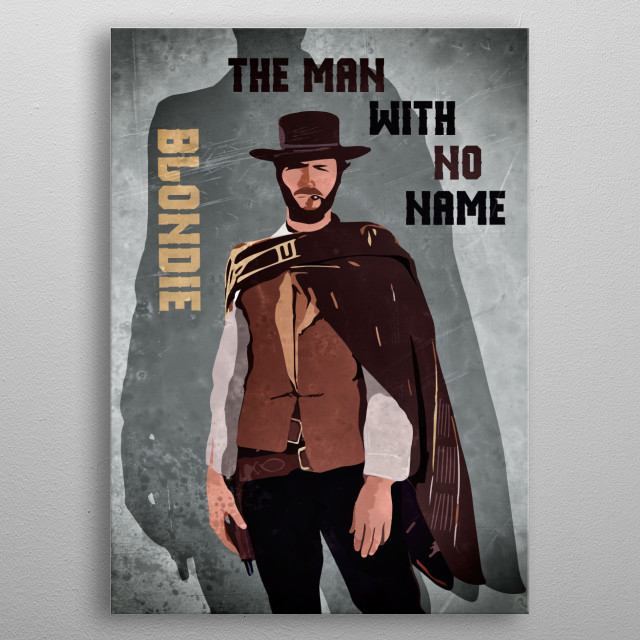 Illustration of the legendary western star Clint Eastwood... metal poster