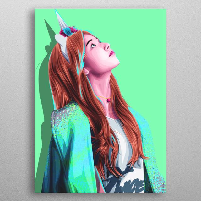 Minatozaki Sana Twice by muhamad alvin | metal posters