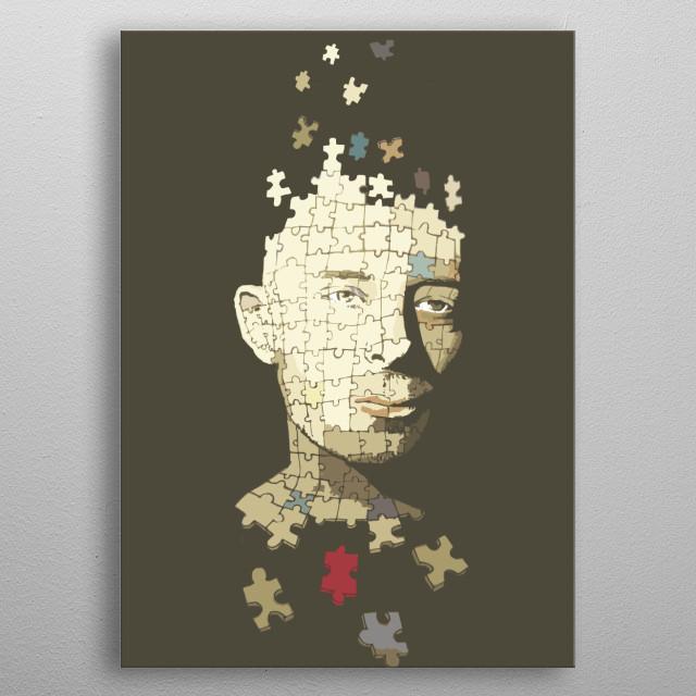 Portrait of Thom Yorke (Radiohead) metal poster
