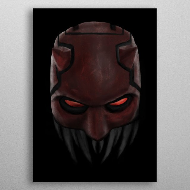 The Devil of Hell's Kitchen has no fear. metal poster