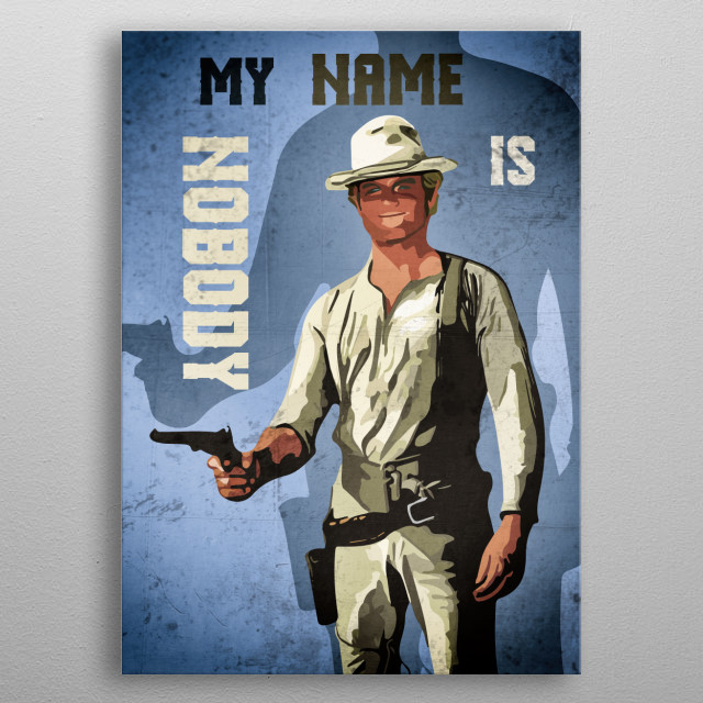 """Illustration of the legendary western star """"Terence Hill""""... metal poster"""