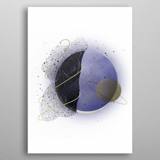 Shout out to all the cosmos lovers! An illustration collection inspired by the universe above us. metal poster