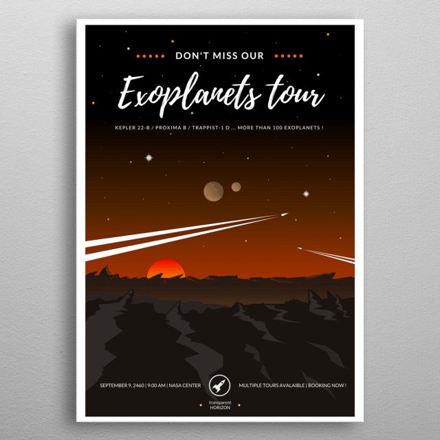 Take the most memorable trip of your life metal poster