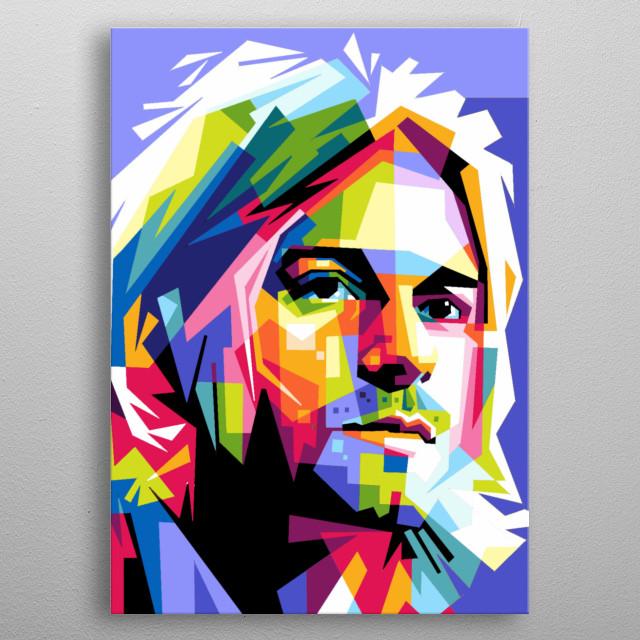 Musician on Nirvana  metal poster