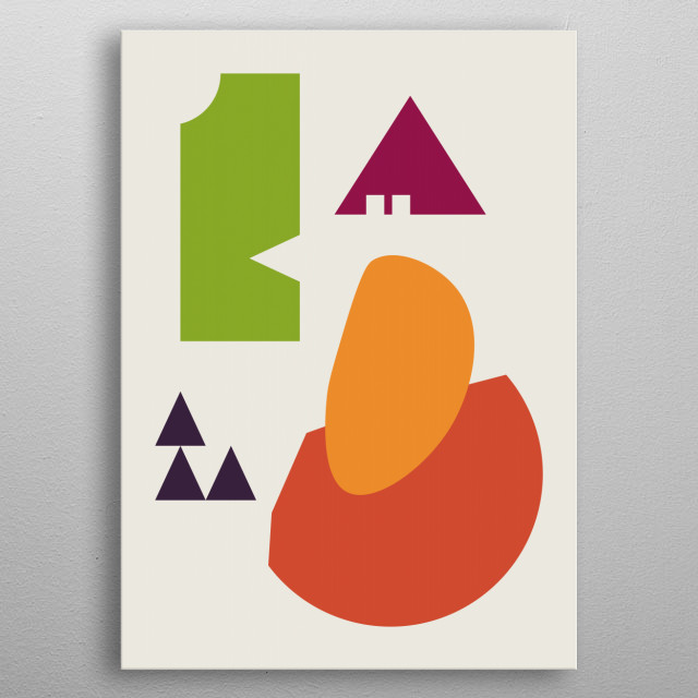 Abstract Art metal poster