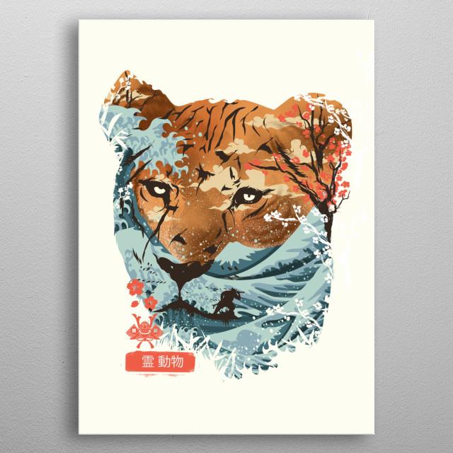 Spirit Animal Tiger metal poster