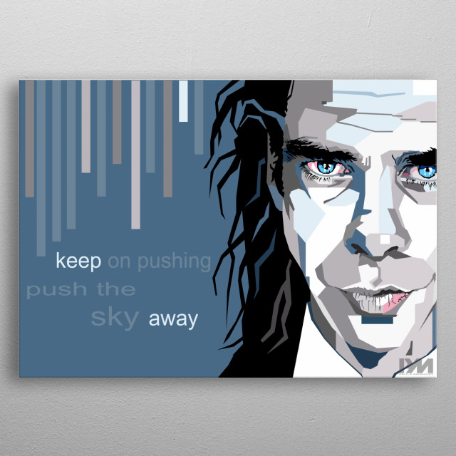 Illustration i made as a Tribute to Nick Cave metal poster