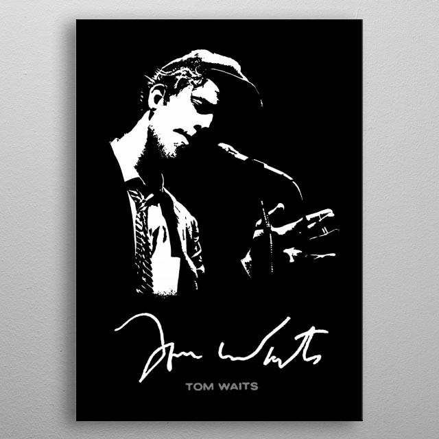 Tom Waits - Jazz-Piano-Music metal poster