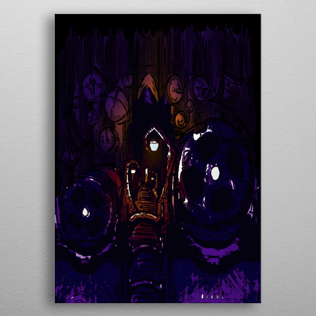 Image from a personal short story. metal poster