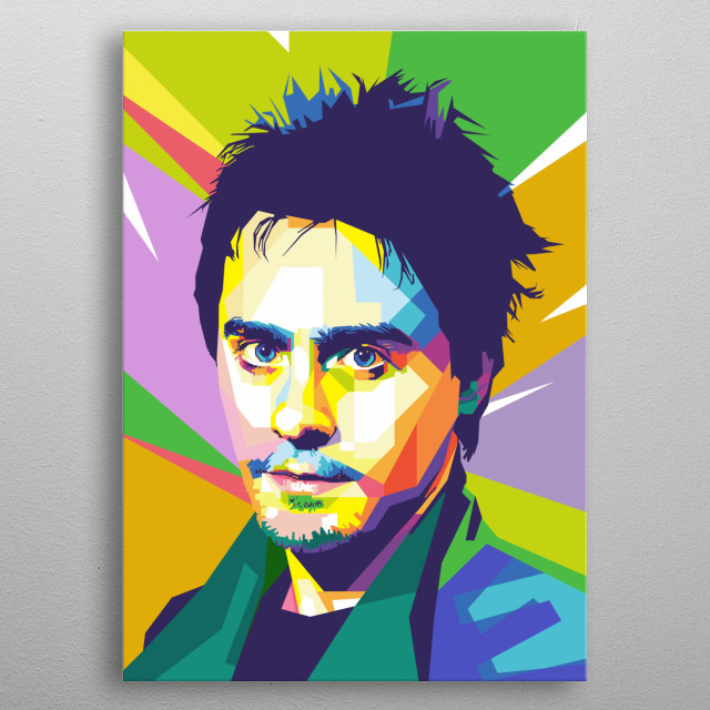 Jared Leto 30 Seconds to mars in wpap metal poster