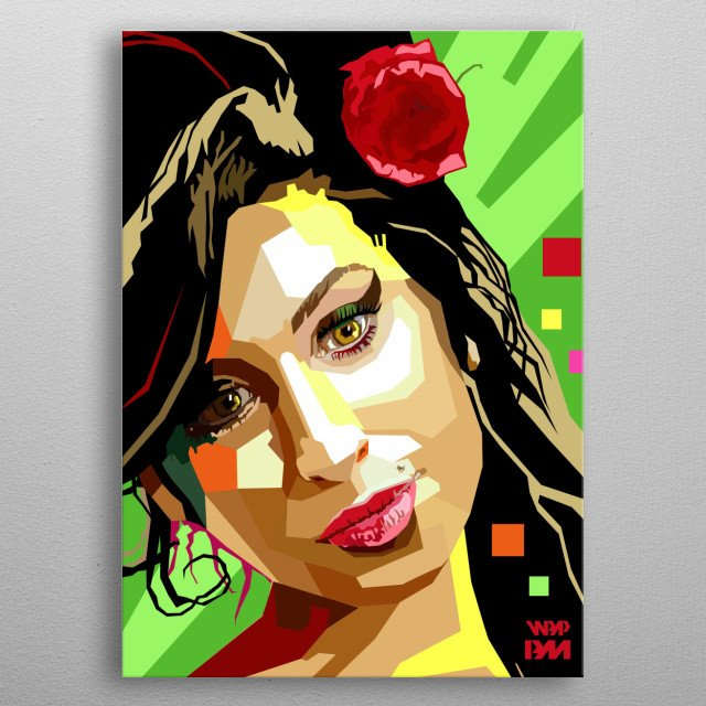 Illustration i made as a tribute to Amy Winehouse metal poster