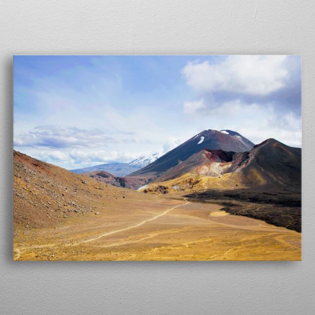 Tongariro crossing, New Zealand (aka Mount Doom) metal poster