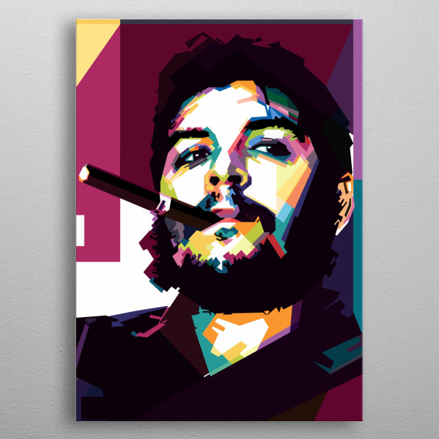 che guevara in WPAP style metal poster