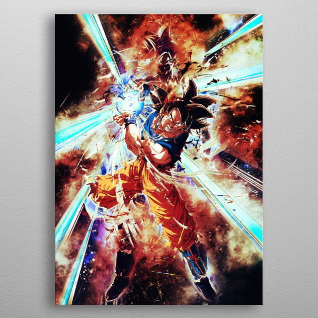 Goku ultra instinct metal poster