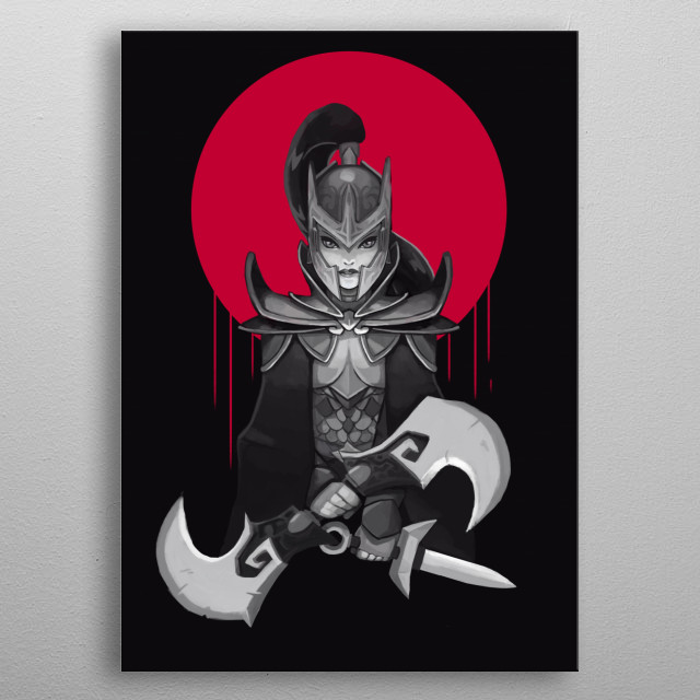 a killer hero from dota 2 metal poster